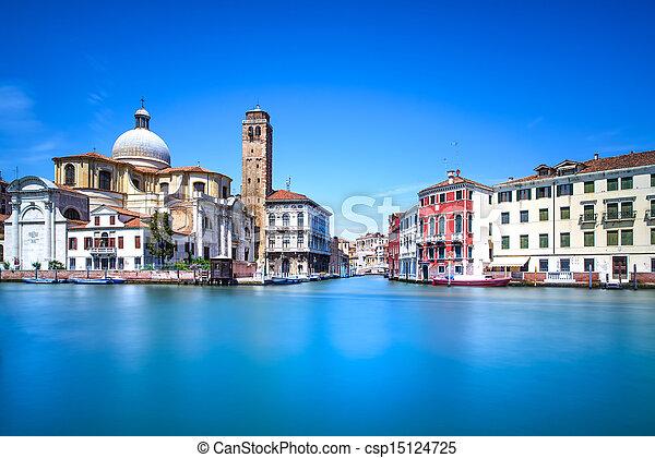 Venice grand canal, San Geremia church landmark. Italy - csp15124725