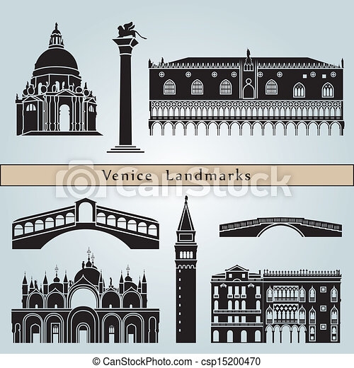 Venice landmarks and monuments - csp15200470