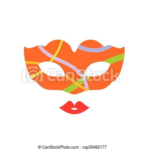 venice mask fantasy illustration - csp35462177