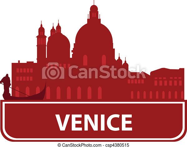 Venice skyline - csp4380515