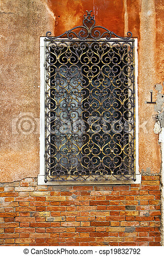 Venice, window, architectural detail - csp19832792
