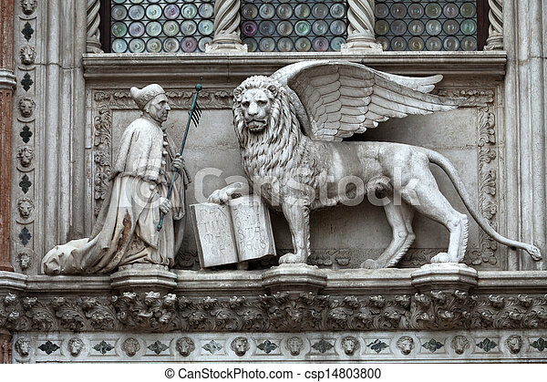 Venice Winged Lion Of St Mark Symbol Of Venice