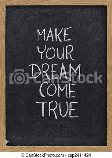 venire, fare, vero, sogno, tuo - csp2411424