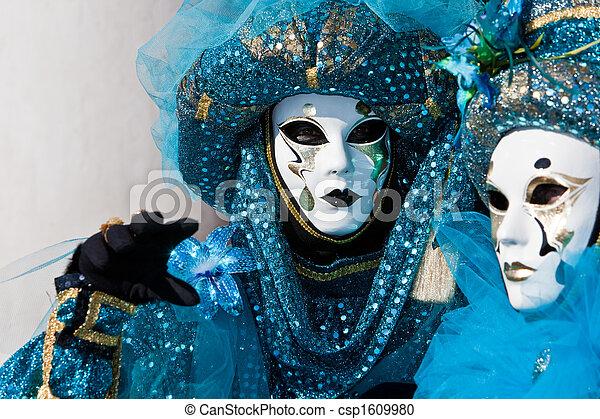 venise, déguisement, carnaval - csp1609980