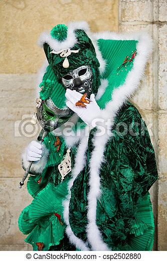 venise, déguisement, carnaval - csp2502880