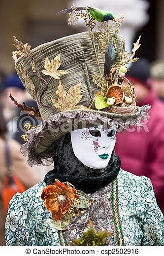 venise, déguisement, carnaval - csp2502916