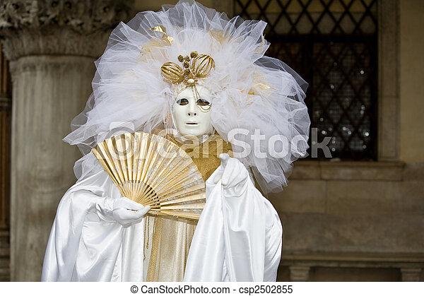 venise, déguisement, carnaval - csp2502855