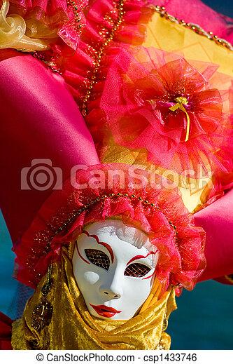 venise, masque, déguisement, carnaval - csp1433746