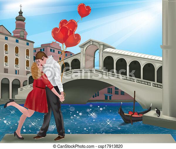 Préférence Vecteurs illustration de venise, amour - venise, femme, amour  DX07