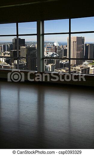 venster, door, blik - csp0393329