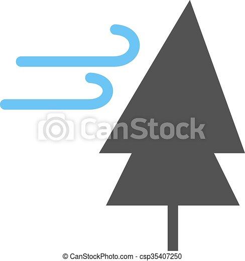 vent, arbre - csp35407250