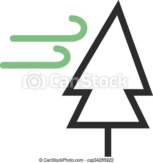 vent, arbre - csp34285922