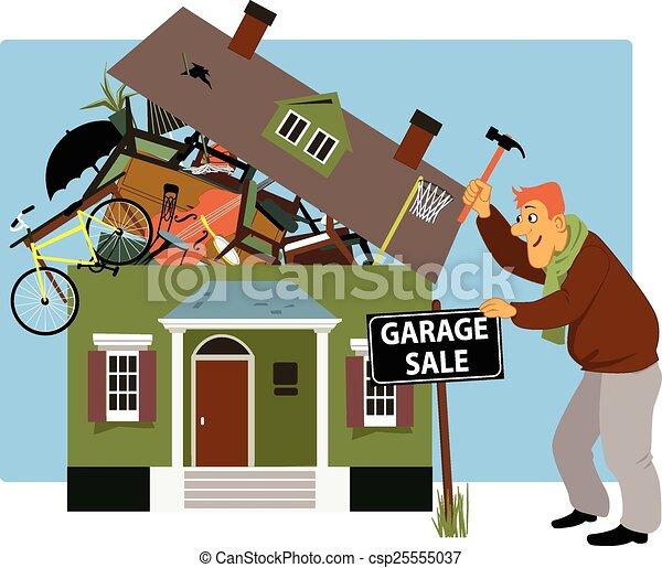 Hora de una venta de garaje - csp25555037