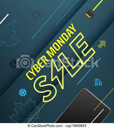 venta, lunes, cyber, oferta, especial - csp74969843