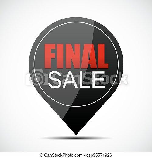 Ilustración de vector de venta final - csp35571926