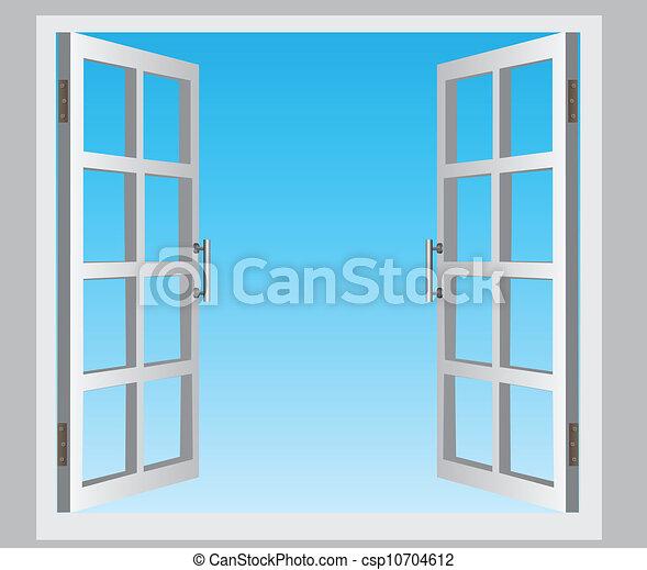 Abre la ventana - csp10704612