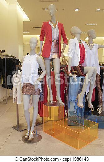 9638e73b08f2 ventana de la tienda, moda, maniquíes