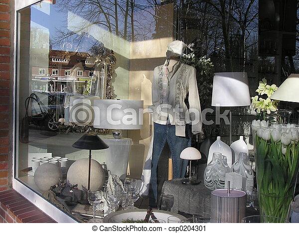 ventana de la tienda - csp0204301