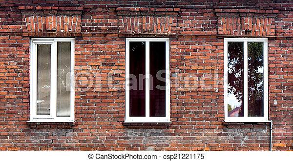 Un marco de ventana. - csp21221175