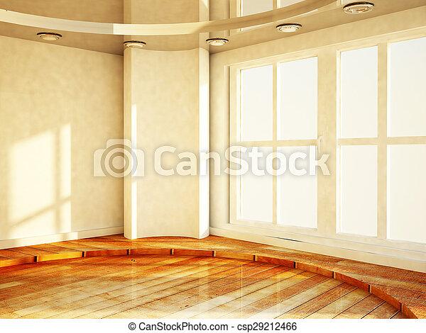 Habitación brillante vacía con la ventana - csp29212466