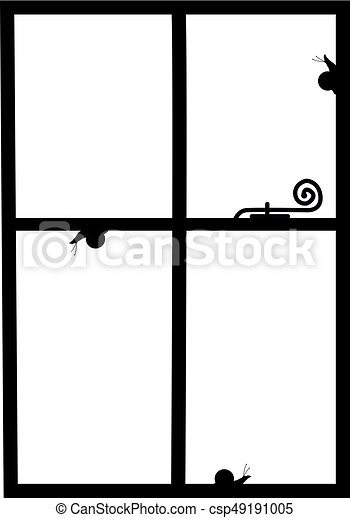 Silueta de la ventana - csp49191005