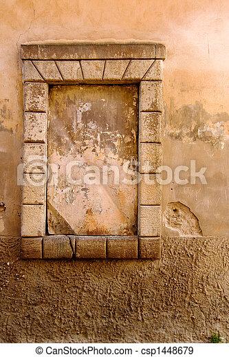 ventana, viejo, detalle - csp1448679