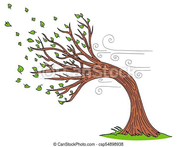 venteux, souffler, jour arbre, vent - csp54898938