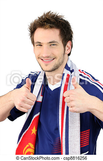 Fan del fútbol francés - csp8816256