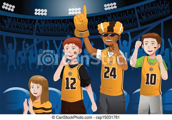 Fans de deportes en un estadio - csp15031781