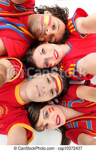 Fanáticos del fútbol español - csp10372437