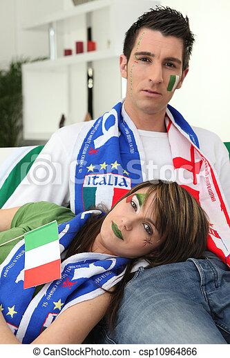 Fans del fútbol italiano - csp10964866