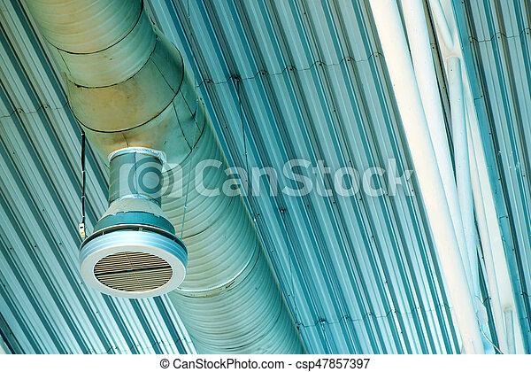 ventilation, industriel, système, canaux transmission - csp47857397