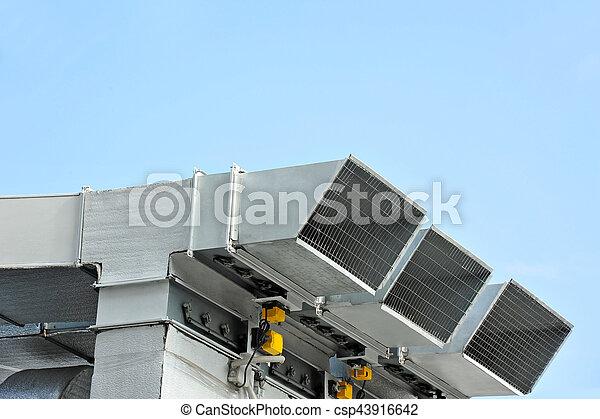 ventilation, industriel, système - csp43916642