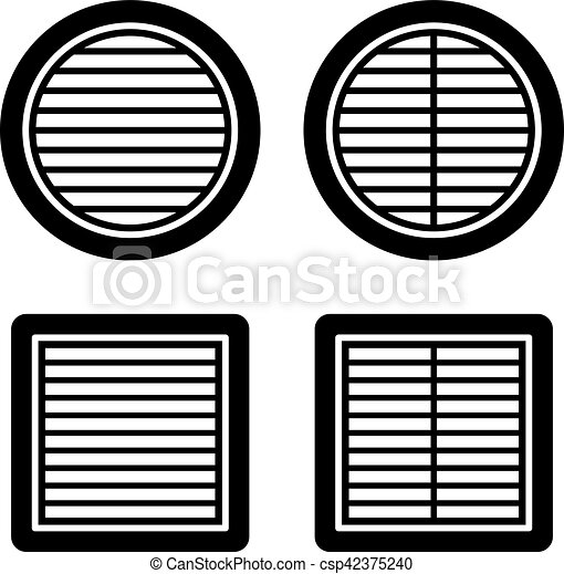 ventilation noir symbole grille toile symbole vecteur eps rechercher des clip art. Black Bedroom Furniture Sets. Home Design Ideas