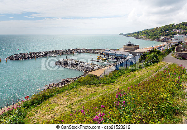 Ventnor harbour Isle of Wight south - csp21523212
