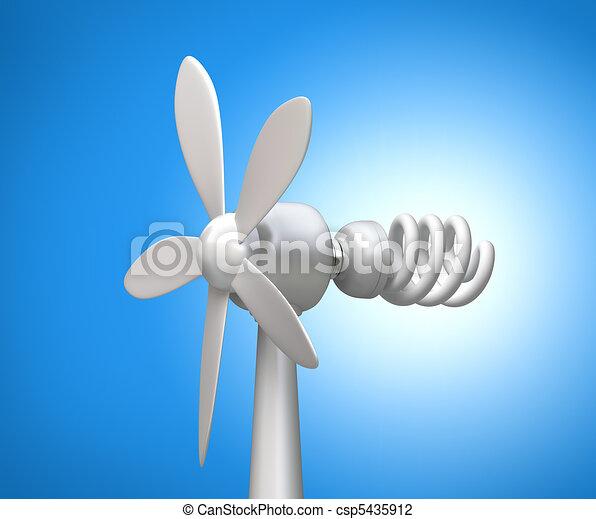 vento, lamp., modernos, gerador, 3d - csp5435912