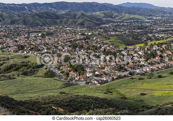 Ventura County Suburban Spring near Los Angeles California - csp26060523