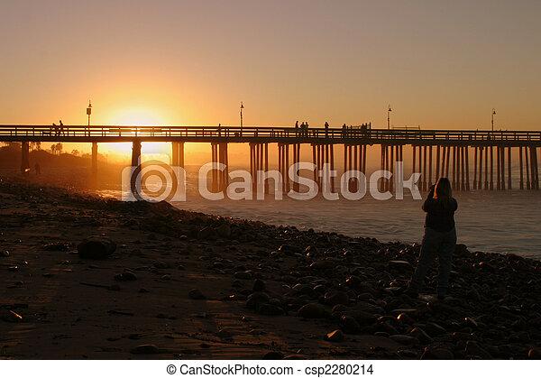 Sunrise pier ventura - csp2280214