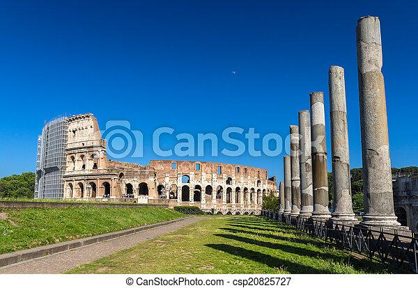 venus, colosseum, ansicht, tempel, roma - csp20825727
