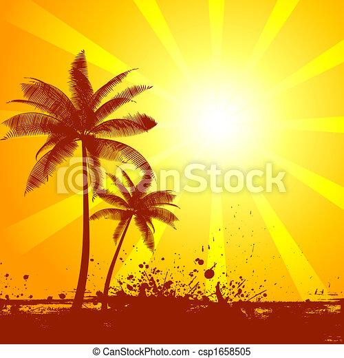 verão, cena - csp1658505
