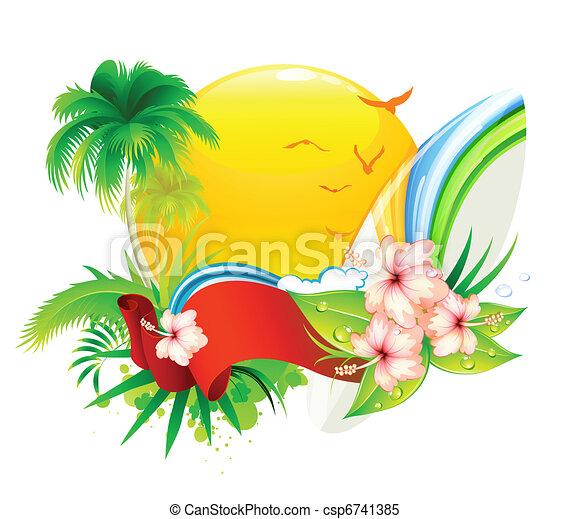 verão, fundo - csp6741385