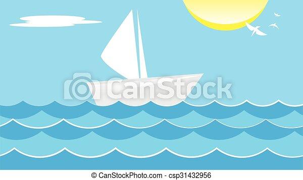 verão, mar - csp31432956