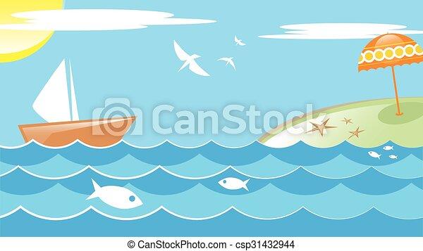 verão, mar - csp31432944