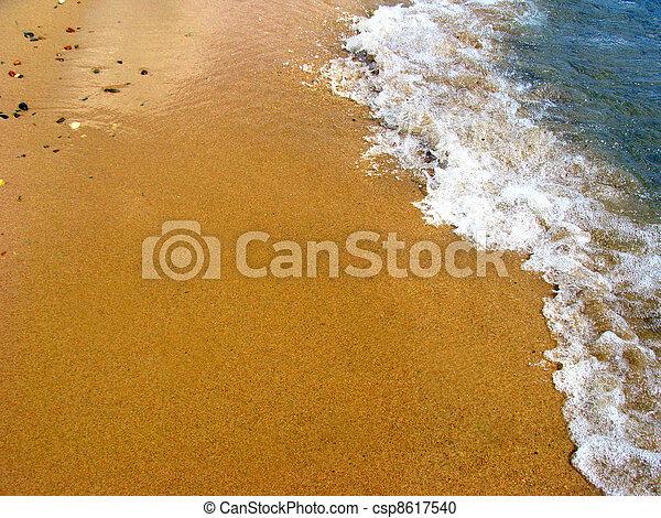 verão, praia, arenoso - csp8617540