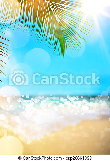 verão, praia, fundo - csp26661333