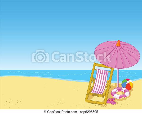 verão, praia - csp6296505