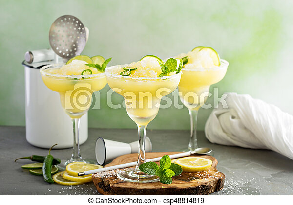 verão, refrescar, coquetel, margarita - csp48814819