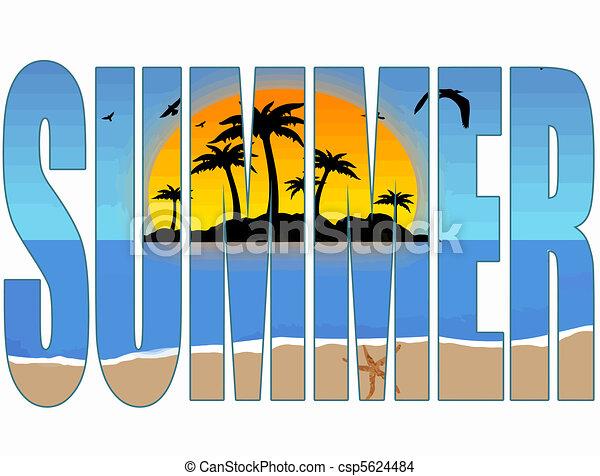 verão, título - csp5624484