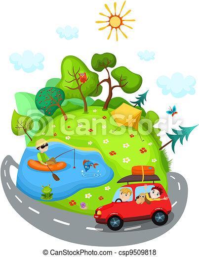verão, viagem - csp9509818