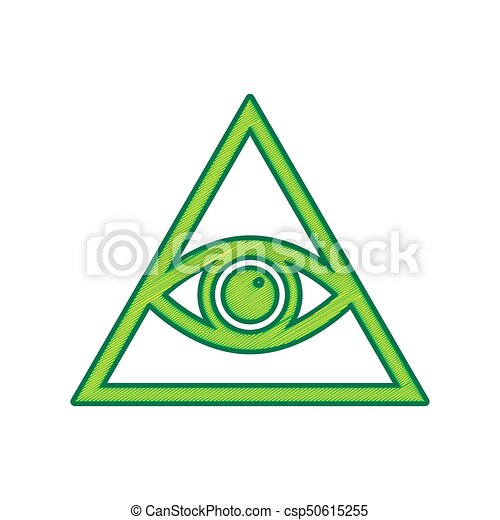 2115299377bde All Seeing Eye Pyramid Symbol. Freemason And Spiritual. Vector. Lemon  Scribble Icon On White Background. Isolated. ver